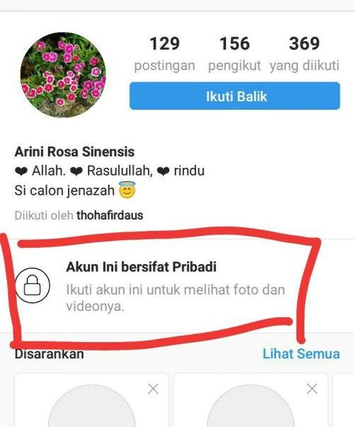 Cara membuat akun privat di instagram