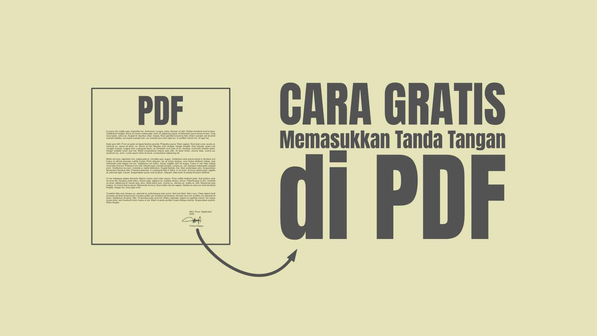 Memasukkan Tanda Tangan di PDF - Cara GRATIS |