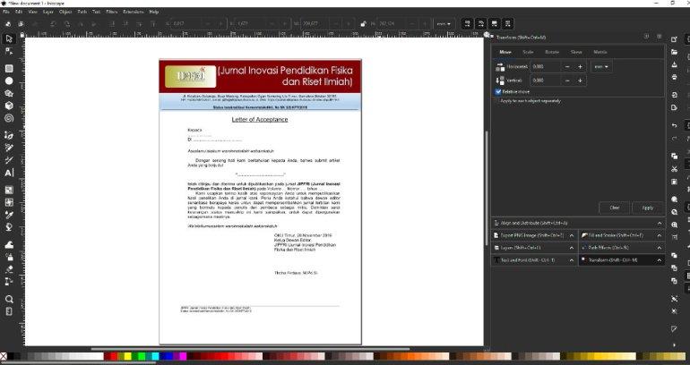 Memasukkan pdf di inkscape