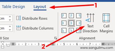 Mengubah Tulisan Vertikal di Word pada Tabel