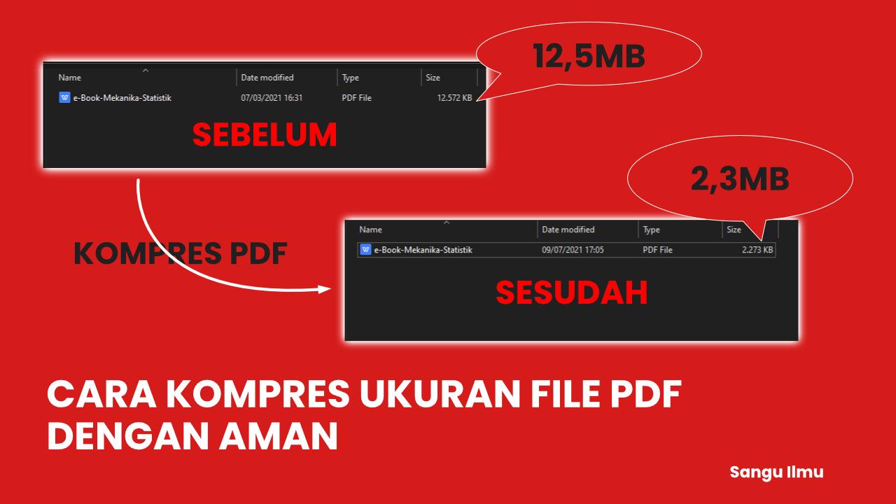 Cara Kompres File PDF dengan Aman - Gratis |