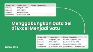 Menggabungkan Data Sel di Excel Menjadi Satu