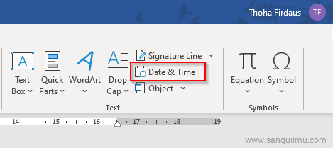 Cara Menambah Tanggal dan Waktu Update Otomatis di Word