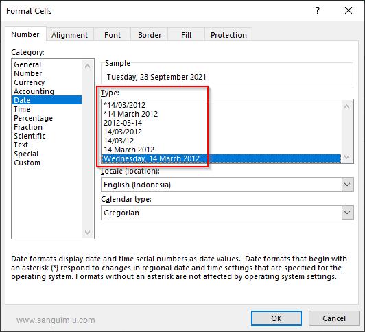 Cara Membuat Tanggal Waktu Auto Update Hari ini di Excel
