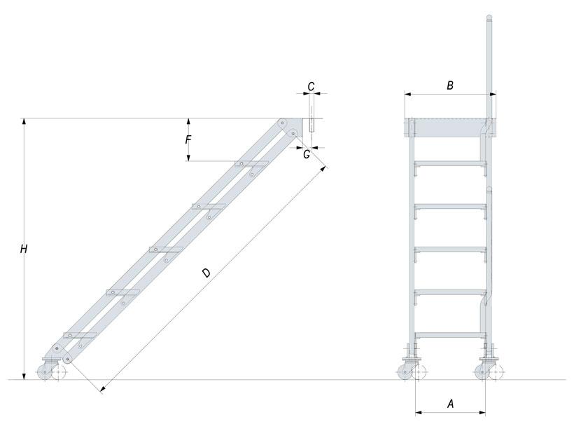 Boat dock ladder by Sanguineti Chiavari