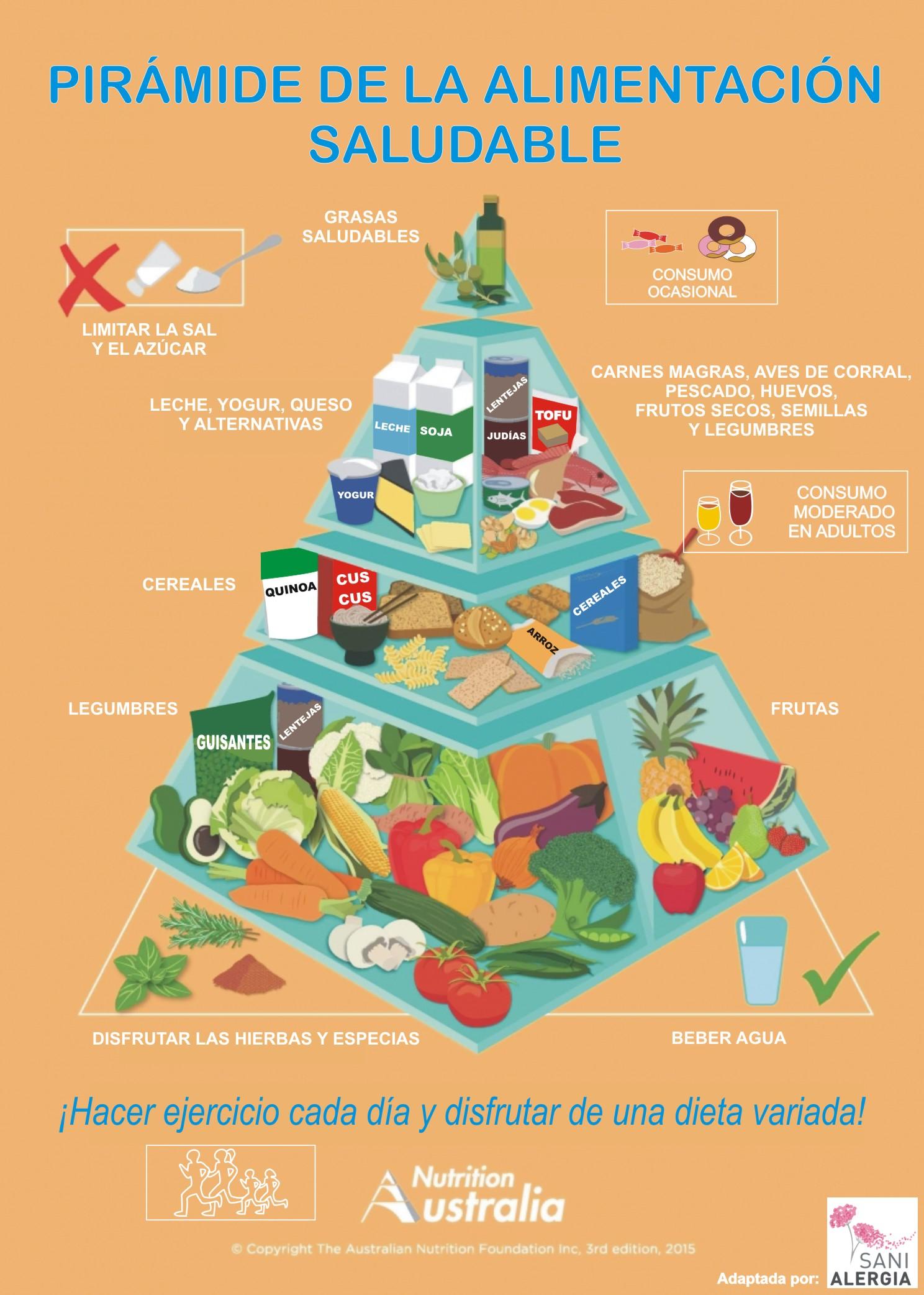 Pir mide de la alimentaci n saludable sanialergia alerg logo - Piramide de la alimentacion saludable ...