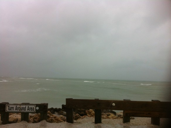 Valentines Day rain at Blind Pass (between Sanibel & Captiva Islands)