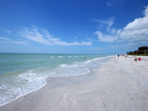 Beach in front of Island Beach Club