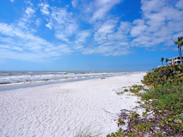 Beach in front of our new listing at Sand Pointe, by JMA Photography