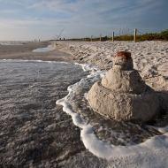 Sanibel snowman at Bowmans
