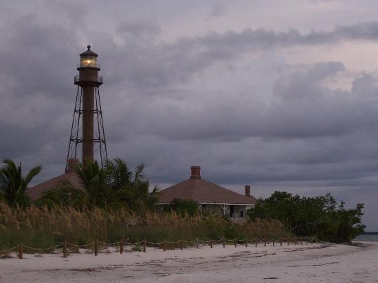 Rainy lighthouse sanibel-island