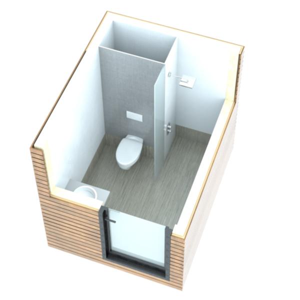 blocs sanitaires modulaire pour camping