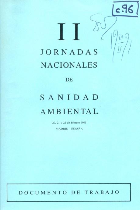 II Jornadas Nacionales de Sanidad Ambiental