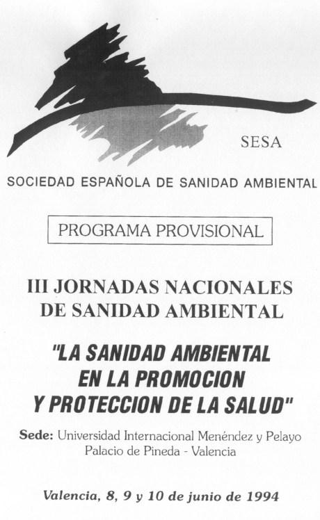 III Jornadas Nacionales de Sanidad Ambiental