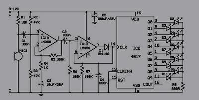 Rangkaian Elektronika, Lampu LED Disko Mengikuti Musik