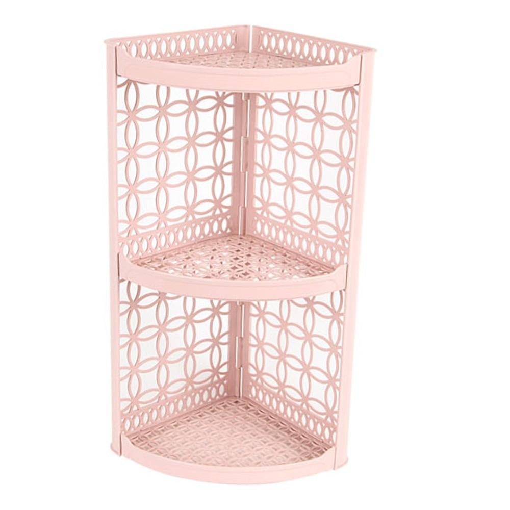 coin sdb 3 etageres plastique rose