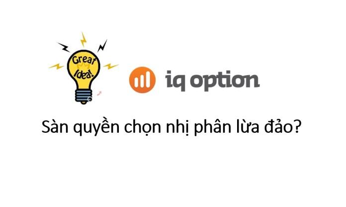IQ Option lừa đảo