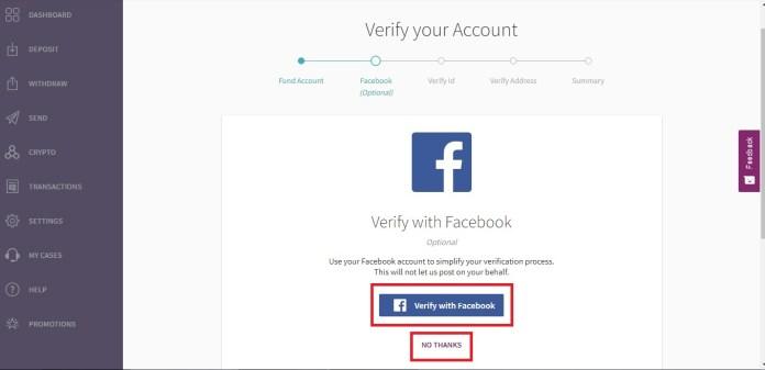 Hướng dẫn liên kết ví điện tử Skrill với tài khoản Facebook