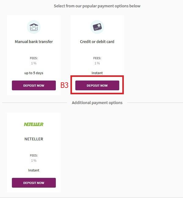 Hướng dẫn nạp tiền vào ví điện tử Skrill bằng thẻ visa