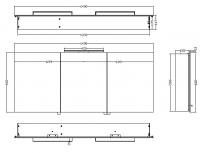 Luxe Spiegelkast Led Verlichting 140x60x14cm