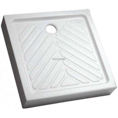 geberit receveur a poser carre sureleve extra plat prima 90x90 cm ceramique blanc 00717100000