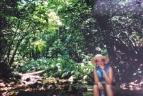 Me in the largest urban rainforest in the world, Tijuca, Rio de Janeiro circa 2001 with a huge hat no less