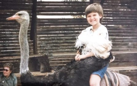 Yup still got the cheeks but this time on an Ostrich!