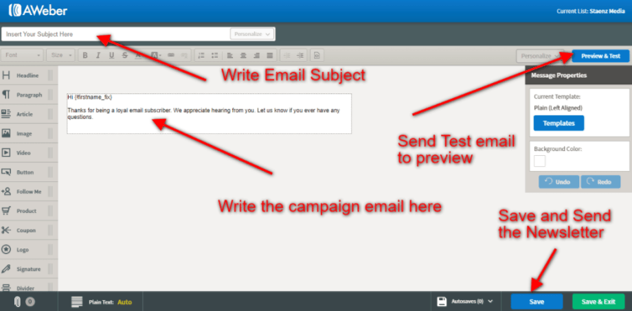 create email