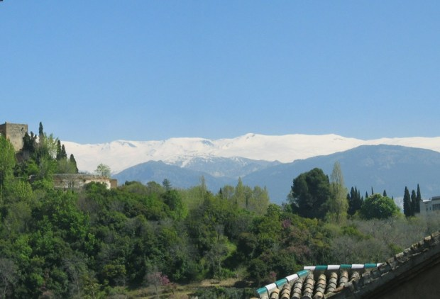 View of the Sierra Nevada from the terrace of apartment 2B