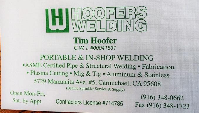 Tim Hoofer - Welding