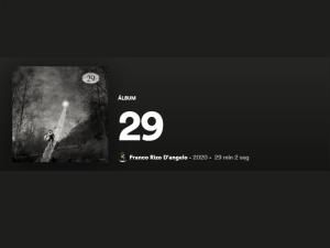 """""""29"""", el disco de Franco Rizo D'Angelo disponible en Spotify"""
