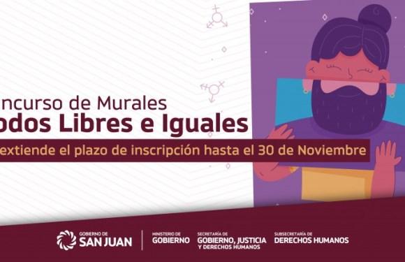 Extienden plazo de inscripción del concurso de murales «Todos Libres e Iguales»