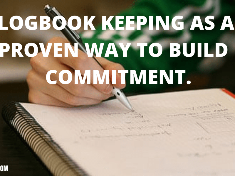 LOGBOOK KEEPING AS A PROVEN WAY TO BUILD COMMITMENT