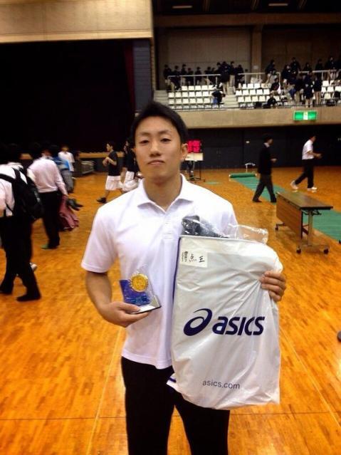 大学4年生のときのまだあどけなさが残る武田倫太郎選手。バスケだけに集中していた