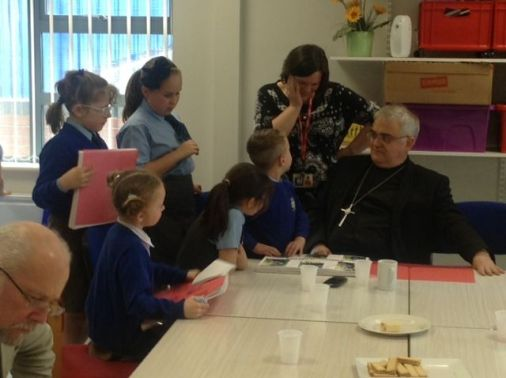The Rev Dr M Wakelin, the President of the Methodist Conference shares a story whilst looking through the children's RE books.