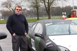 Rev'd Mark Coles With His Ford Puma Race Car