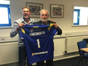 The Rev's Stephen Kingsnorth is Given a Wolves Shirt