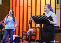 New Song Warrington band: Fran & Bethany rehearsing