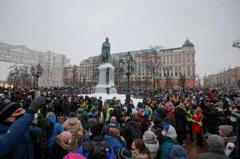 În zeci de oraşe din Federația Rusă au loc acțiuni de protest pentru libertate şi împotriva arestării ilegale a lui Alexei Navalny 2