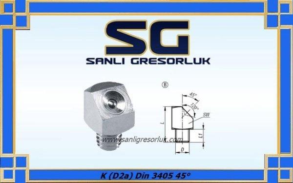 Gresörlük Cukur Basli Egri Tip Disli Galvaniz K (D2a) Din 3405 45°