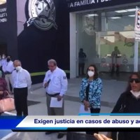 Mujeres víctimas de violencia, se manifiestan durante inauguración de la Fiscalía de la Mujer. - VIDEO