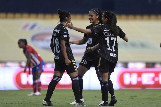 Tigres Femenil golearon 4-1 al Atleti Femenil y anotaron su gol 300 en su historia
