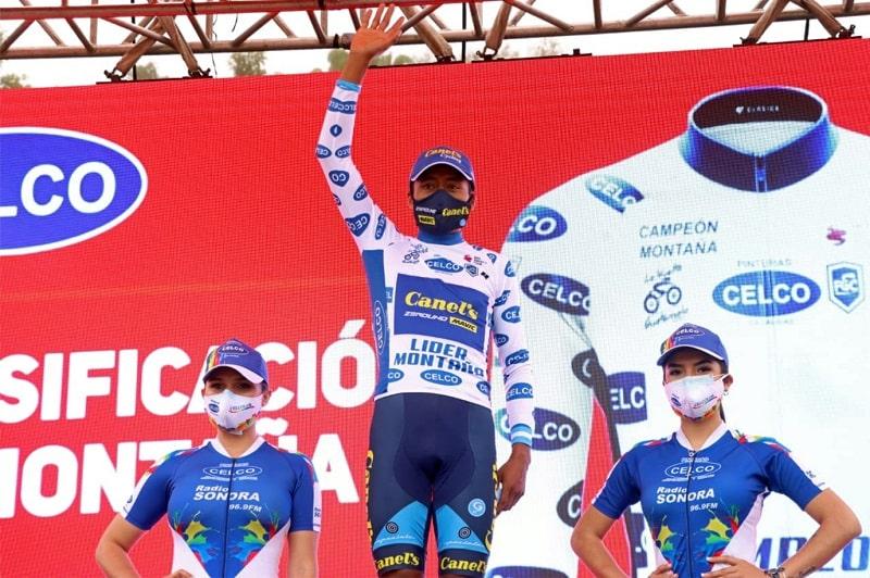 Efrén Santos de CANEL´S-ZEROUNO, líder de montaña en la Vuelta a Guatemala 2020