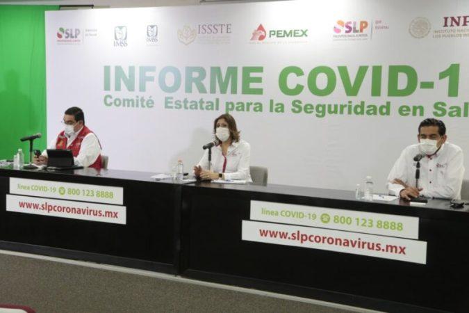 La capital, sigue acumulando la mitad de los contagios de Covid-19 en SLP