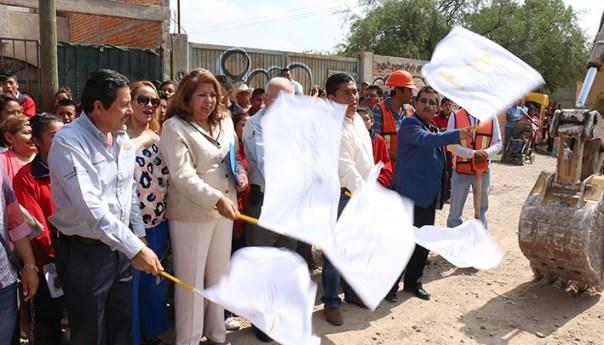 Ricardo Gallardo Inicia Pavimentación en colonia las Flores