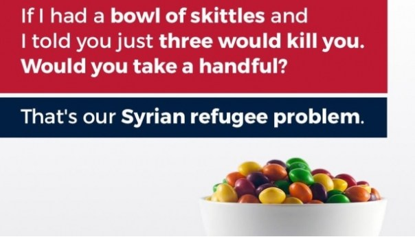 ¡Increible! Hijo de Donald Trum compara despectivamente a refugiados sirios con un puño de dulces envenenados