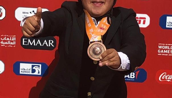 Atleta potosina con síndrome de Down gana bronce en juegos mundiales de olimpiadas especiales