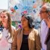 Estudiantes de la Facultad del Hábitat de la UASLP exhiben esculturas con material reciclable en el Laberinto