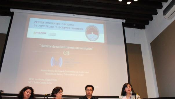 DRTV de la UASLP, presente en el 1er Encuentro Nacional de Fonotecas y Acervos Sonoros