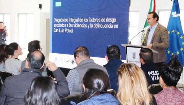 Presentan diagnóstico de la violencia y la delincuencia en San Luis Potosí